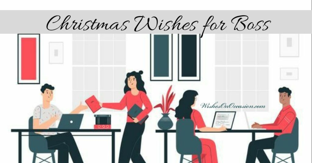 wish professionally to your boss in this christmas