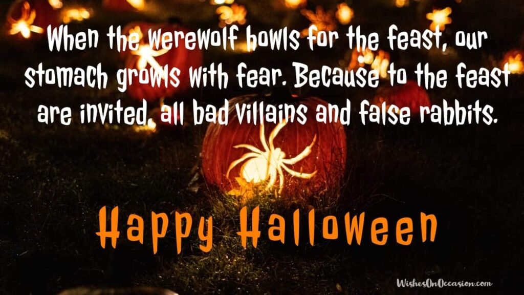 This image contains text about Happy Halloeen Funny Whatsapp Message