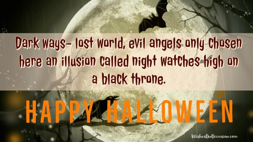 this image contains text about Happy halloween Creepy quotes and sayings