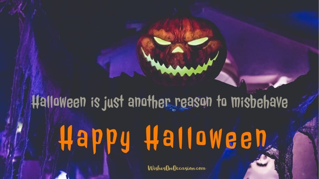 This image contains Happy Halloween short sayings Greetings