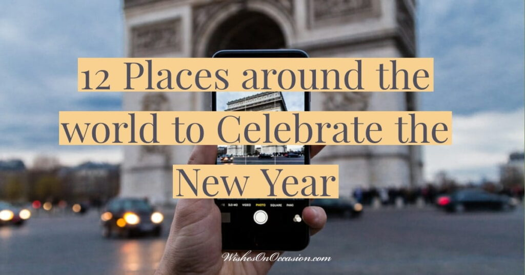 this is in text pic to tell about 12 places to visit in the new year's eve