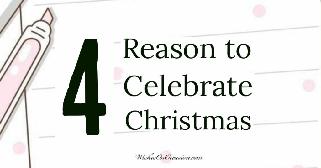 This is an in-text Images which quoted the reason to celebrate Christmas on a particular date