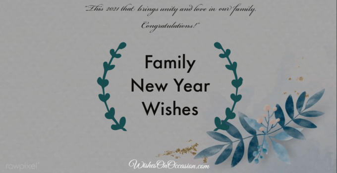 family new year wishes