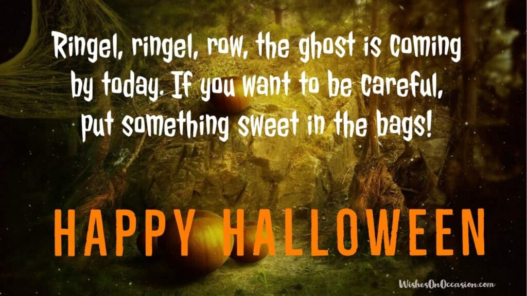 This image contain text about happy Halloween sayings and quotes