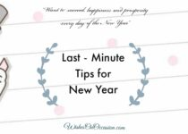 This image contain text about last minute tips for new year