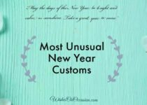 This image contain text about most unusual new year customs