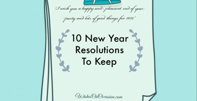 this image contain text about new year resolutions to keep