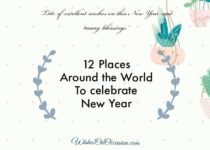 This image contain text about places around the world to celebrate new year