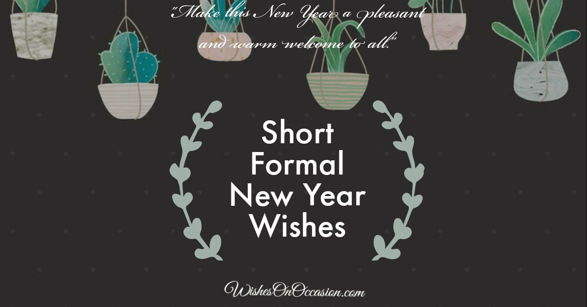 short formal new year wishes