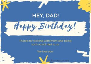 Happy Birthday wishes for Father